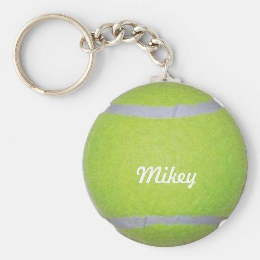 Customizable Tennis Ball Key Chains