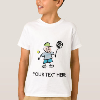 Customizable Tennis Cartoon Tshirt
