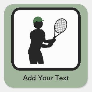 Customizable Tennis Player Logo Sticker