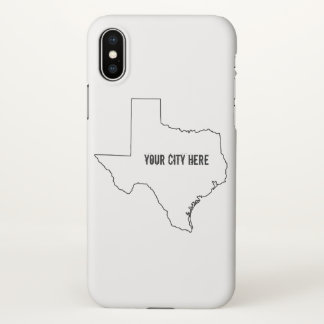 Customizable Texas Select City IPHONE case. iPhone X Case