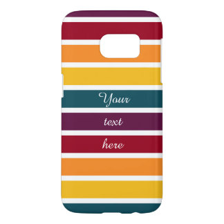 Customizable Text Sunset Stripes
