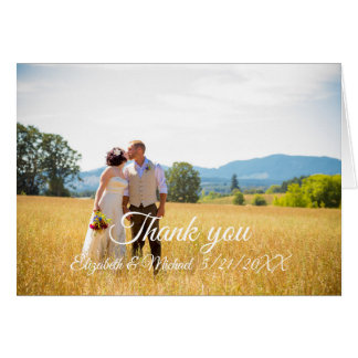 Customizable Thank You flat card Wedding