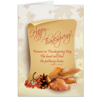 Customizable Thanksgiving Card with Fall Foliage