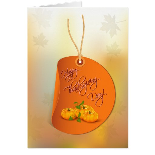Customizable Thanksgiving Card with Pumpkins