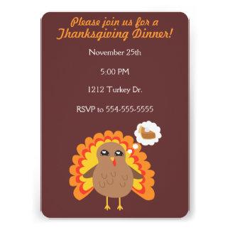 Customizable Thanksgiving Turkey Announcement