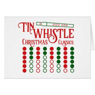CUSTOMIZABLE Tin Whistle Christmas Classics Card