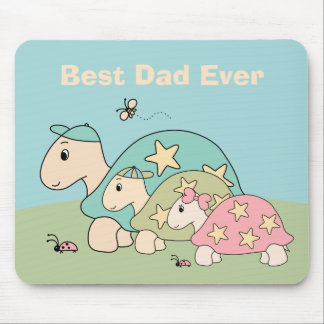 Customizable Tortoise Father's Day Mouse Pad