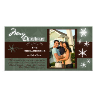 Customizable Traditional Merry Christmas Photocard Personalized Photo Card