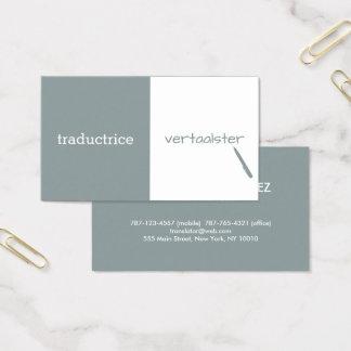 Customizable Translator Business Card