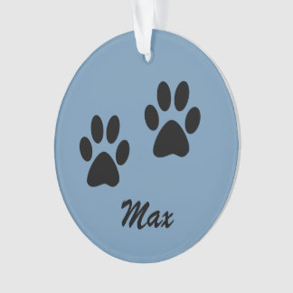 Customizable tree ornament for a dog