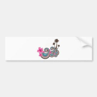 Customizable Tropical Car Bumper Sticker