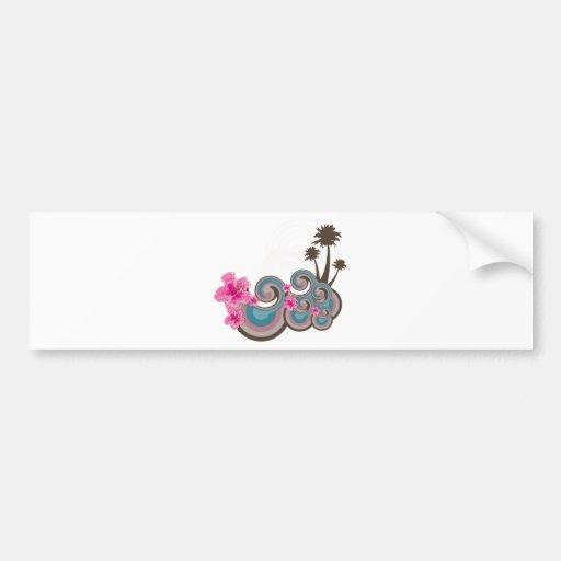 Customizable Tropical Bumper Sticker