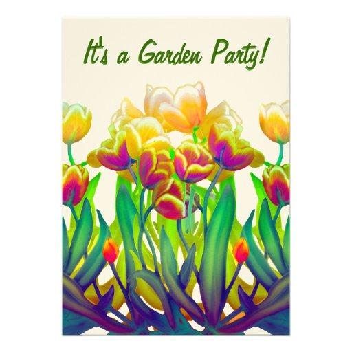 Customizable Tulip Garden Invitation