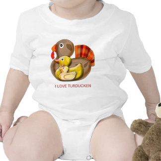 Customizable Turducken Design Baby Bodysuits