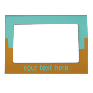 Customizable Turquoise and Mustard Magnetic Frame