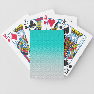 Customizable Turquoise White Ombre Background Bicycle Playing Cards