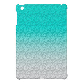 Customizable Turquoise White Ombre Background iPad Mini Cases