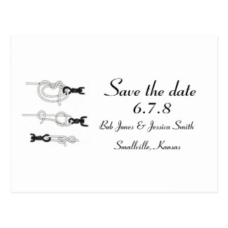 Customizable: Tying the knot - Save the Date Postcard