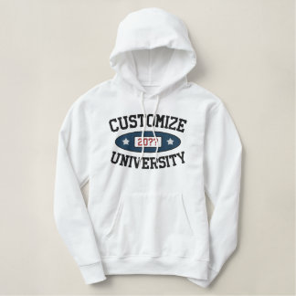 Customizable University with Year Embroidered Hoodie