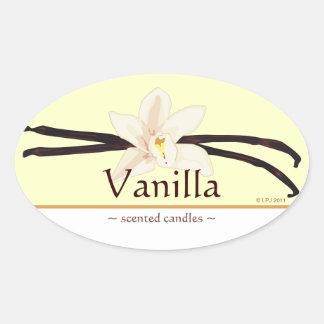 Customizable Vanilla Oval Sticker