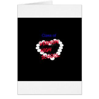Customizable Vernon High School Candle Heart Card