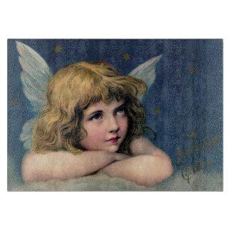 Customizable Vintage Christmas Angel Cutting Board