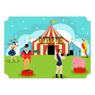 Customizable Vintage Circus Party Invitation