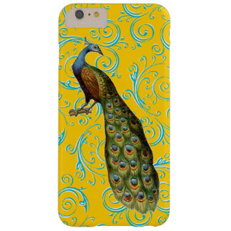 Customizable Vintage Peacock Swirl Barely There iPhone 6 Plus Case