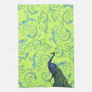 Customizable Vintage Peacock Swirl Tea Towels