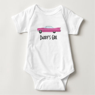 Customizable Vintage Pink Cadillac Baby Bodysuit