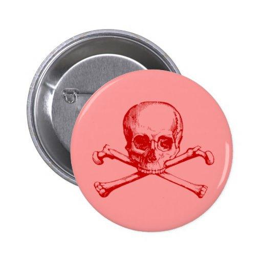 Customizable Vintage Skull & Crossbones Pins