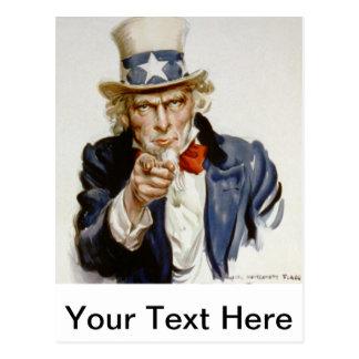 Customizable Vintage Uncle  Sam Postcard