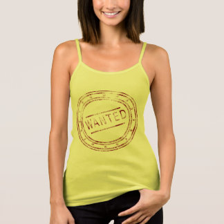 Customizable Vintage Wanted Stamp Design Singlet