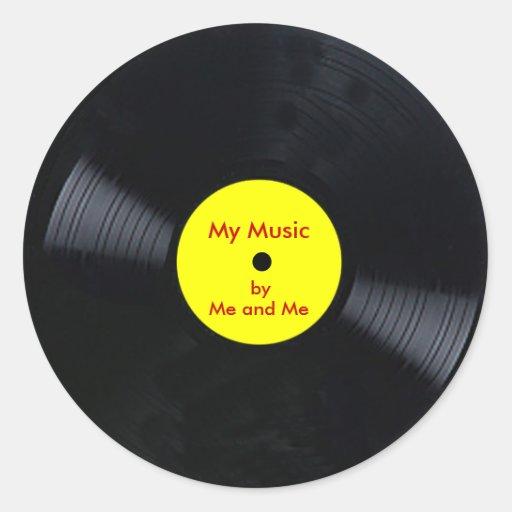 Customizable Vinyl Record Stickers