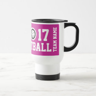 Customizable Volleyball travel mug