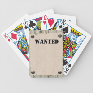 Customizable WANTED Poster Poker Deck