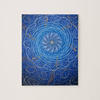 Customizable Water (Psychedelic spirograph) Jigsaw Puzzle