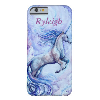 Customizable Watercolor Unicorn Phone Case Barely There iPhone 6 Case