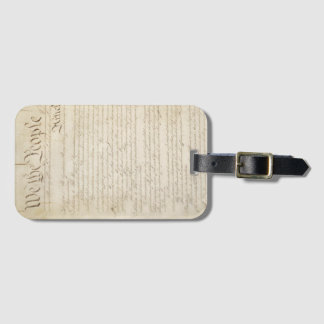Customizable We the People Constitution Luggage Tag