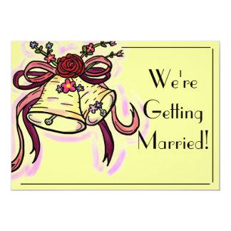 Customizable wedding bell simple wedding cards 13 cm x 18 cm invitation card