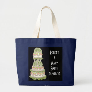 Customizable Wedding Cake Tote Bag