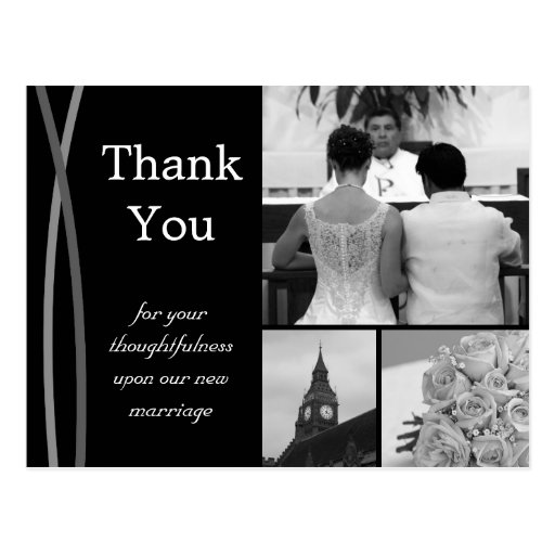Customizable Wedding Thank You Card Photo Pictures Post Card