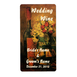 Customizable Wedding Wine Label Shipping Label