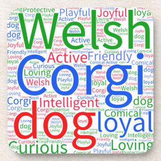 Customizable Welsh Corgi Word Cloud Coaster
