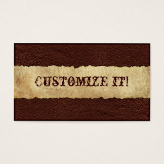 CUSTOMIZABLE Western Leather Business Card