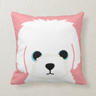 Customizable WHITE DOG Pillow