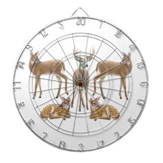 Customizable White Tailed Deer Dart Board
