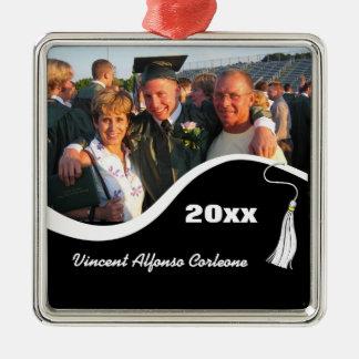Customizable White Tassel Graduation Ornament