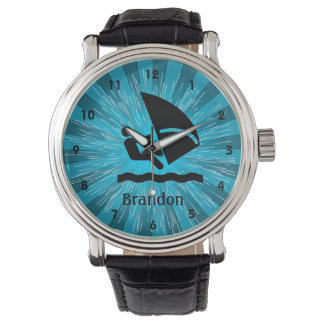 Customizable Windsurfing Design Watch