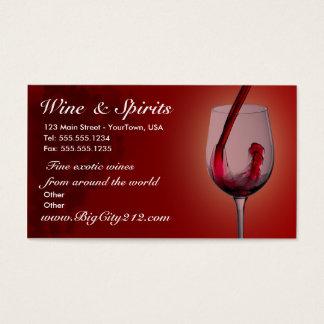 CUSTOMIZABLE Wine Shop Business Cards
